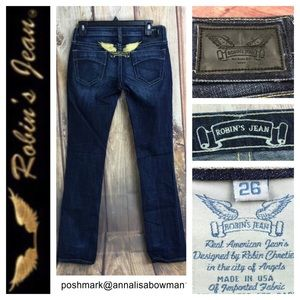 Robin's Jean Marilyn dark wash straight leg size26